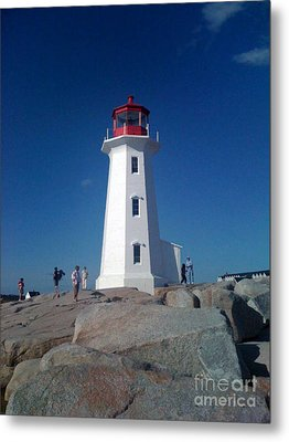 Peggy's Cove Lighthouse Metal Print by Brenda Brown