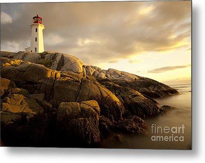 Peggys Cove Lighthouse Nova Scotia Metal Print