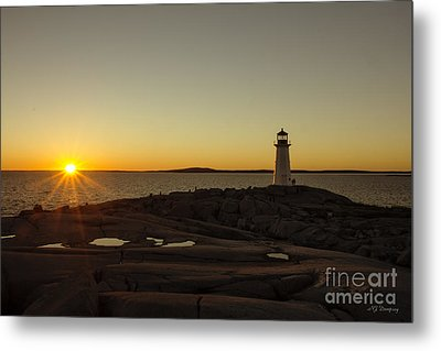 Peggy's Sunset Metal Print by Nancy Dempsey