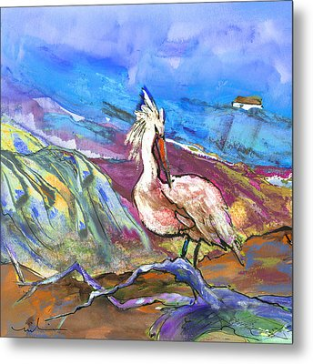 Pelican From The Dombes In France 02 Metal Print by Miki De Goodaboom