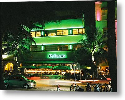 Metal Print featuring the photograph Pelican Hotel Film Image by Gary Dean Mercer Clark