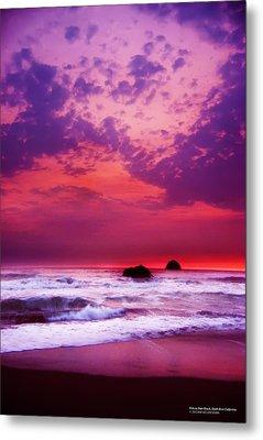 Pelican State Beach California 02 Metal Print by Rafael Escalios