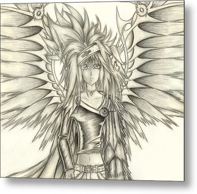 Metal Print featuring the drawing Pelusis God Of Law And Order by Shawn Dall