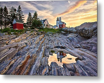 Pemaquid Lighthouse Reflection Metal Print by Benjamin Williamson
