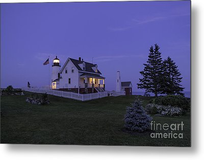 Pemaquid Point Light - Blue Hour Metal Print by Patrick M Fennell
