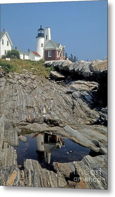 Metal Print featuring the photograph Pemaquid Point Light by ELDavis Photography