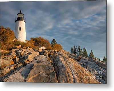 Pemaquid Point Light Vi Metal Print by Clarence Holmes