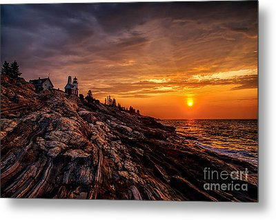 Pemaquid Sunrise  Metal Print by Jerry Fornarotto