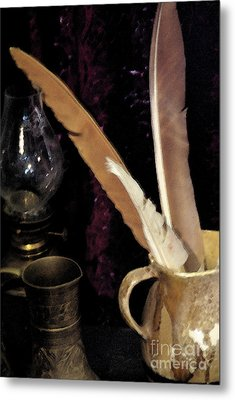 Metal Print featuring the photograph Pen Your Thoughts by Linda Shafer