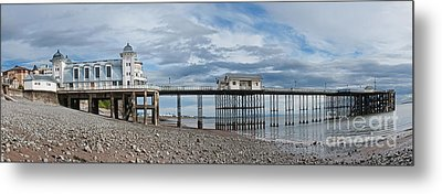 Penarth Pier Panorama 1 Metal Print by Steve Purnell