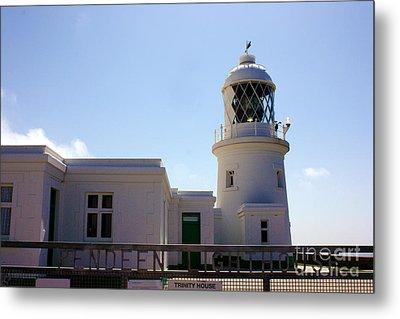 Pendeen Lighthouse Cornwall Metal Print by Terri Waters