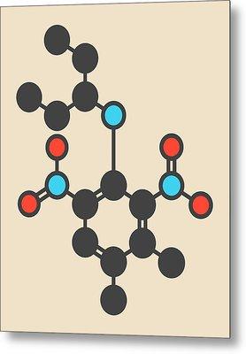 Pendimethalin Herbicide Molecule Metal Print by Molekuul
