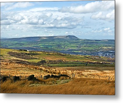 Metal Print featuring the photograph Pendle Hill Lancashire by Jane McIlroy