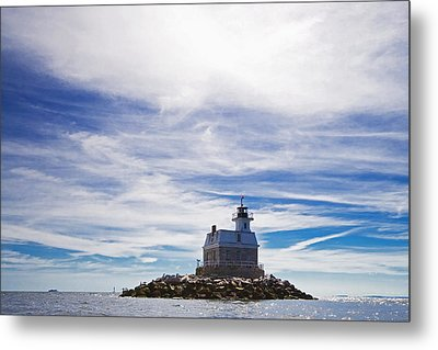 Penfield Reef Lighthouse Fairfield Connecticut Metal Print by Stephanie McDowell