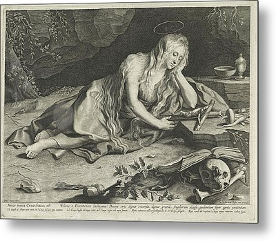 Penitent Mary Magdalene In A Cave, Lucas Vorsterman Metal Print