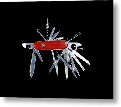 Penknife Metal Print by Science Photo Library