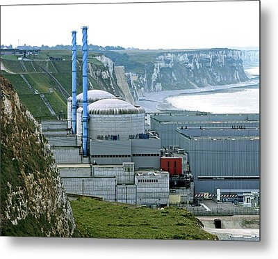 Penly Nuclear Power Station Metal Print by Martin Bond