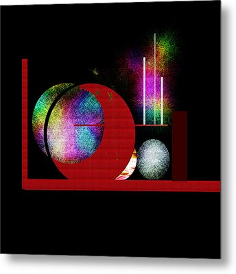 Metal Print featuring the painting Penman Original - Many Moons  by Andrew Penman