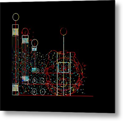 Metal Print featuring the painting Penman Original - Recycled Art 2 by Andrew Penman