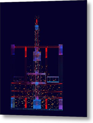Metal Print featuring the painting Penman Original - Untitled 97 by Andrew Penman