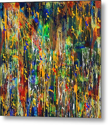 Metal Print featuring the painting Penman Original - Untitled 98 by Andrew Penman