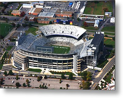 Penn State Beaver Stadium Aerial Metal Print by Mattucci Photography