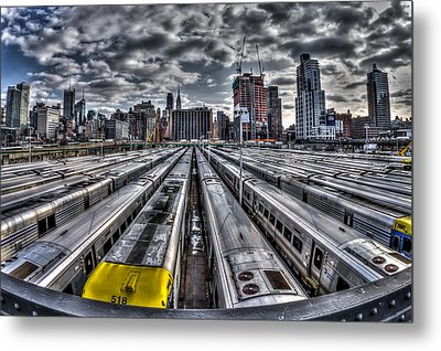 Penn Station Train Yard Metal Print