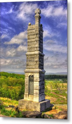 Pennsylvania At Gettysburg - 91st Pa Veteran Volunteer Infantry - Little Round Top Spring Metal Print by Michael Mazaika