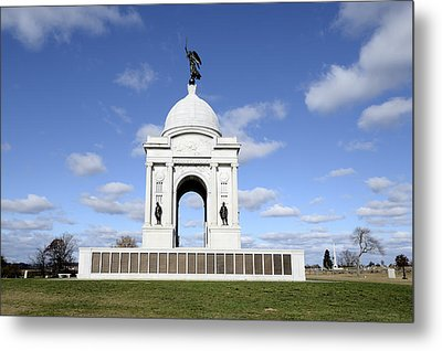 Pennsylvania Memorial At Gettysburg Battlefield Metal Print by Brendan Reals
