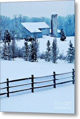Pennsylvania Winter Metal Print