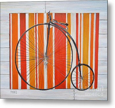 Penny-farthing Metal Print by Marilyn  McNish
