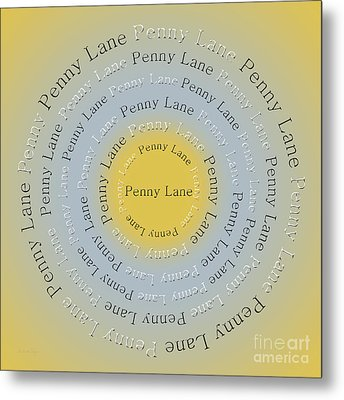 Penny Lane 2 Metal Print by Andee Design