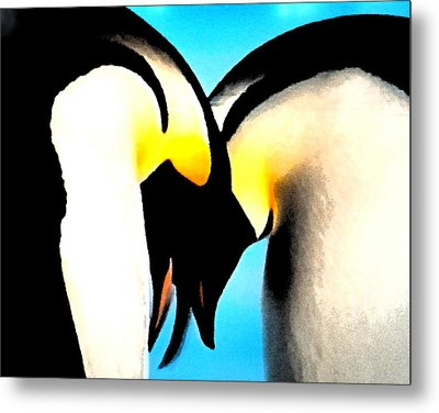 Penquin Love Dance Metal Print