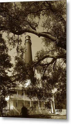 Pensacola Lighthouse Metal Print by Skip Willits