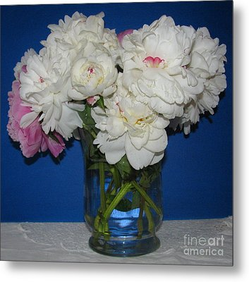 Metal Print featuring the photograph Peonies Bouquet 5 by Margaret Newcomb