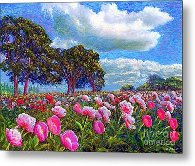 Peony Heaven Metal Print by Jane Small