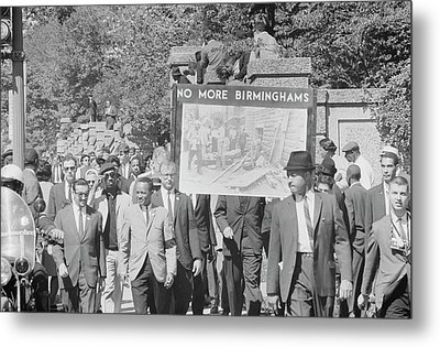 People March In Memory Of Negro Metal Print by Stocktrek Images