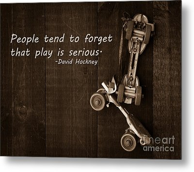 People Tend To Forget That Play Is Serious Metal Print by Edward Fielding