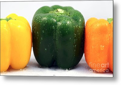 Pepper Colors Metal Print by John Rizzuto