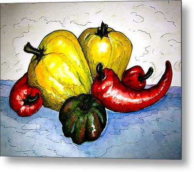 Pepper Diversity Metal Print by Rae Chichilnitsky