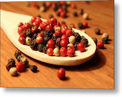 Peppercorns Metal Print