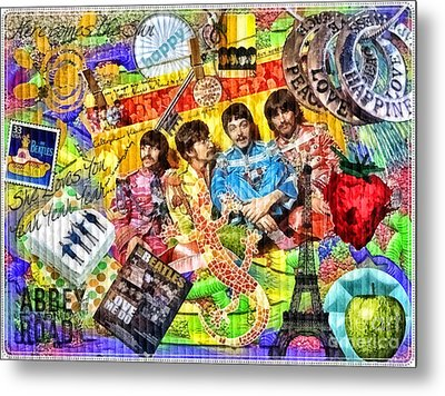 Pepperland Metal Print by Mo T