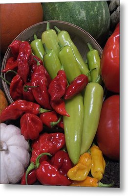 Peppers Etc. Metal Print by Christina Shaskus