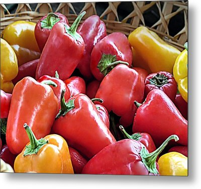 Peppers Metal Print by Janice Drew