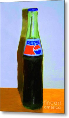 Pepsi Cola Bottle Metal Print by Wingsdomain Art and Photography
