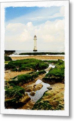 Perch Rock Lighthouse Metal Print