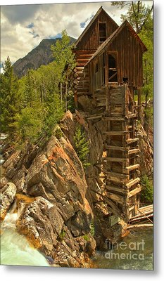 Perched On The Edge Metal Print by Adam Jewell