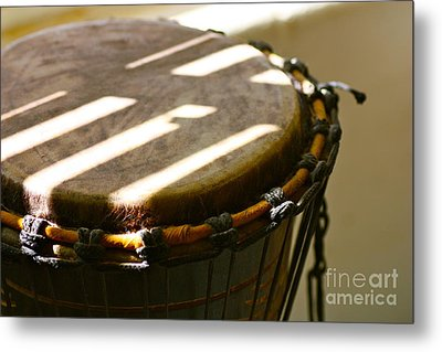 Percussion Light Metal Print by Cathy Dee Janes