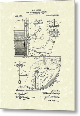 Percussion System 1909 Patent Art Metal Print