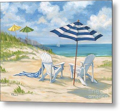 Perfect Beach Blue  Metal Print by Paul Brent